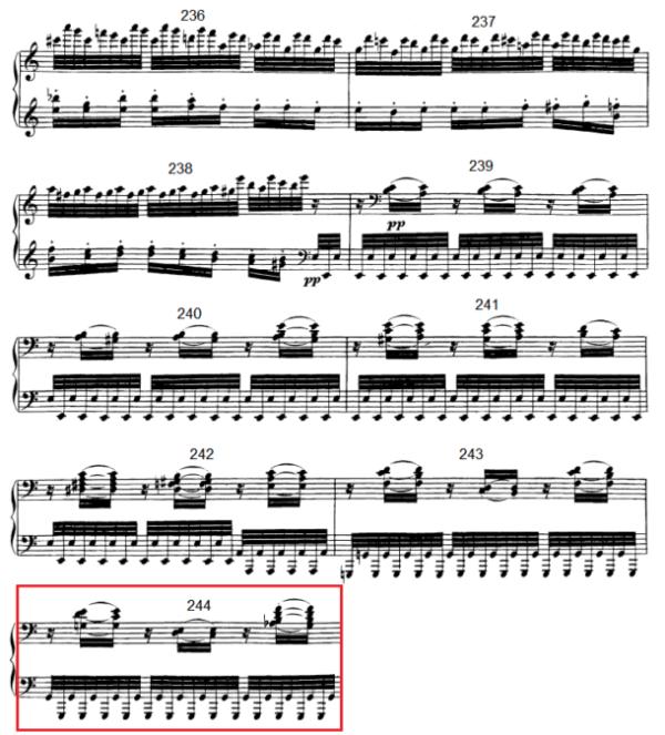 op. 111 – Eine Analyse in 335 Teilen – Takt 244
