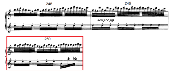 op. 111 – Eine Analyse in 335 Teilen – Takt 250