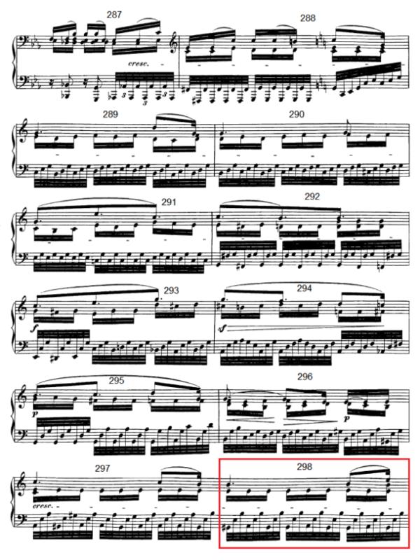 op. 111 – Eine Analyse in 335 Teilen – Takt 298
