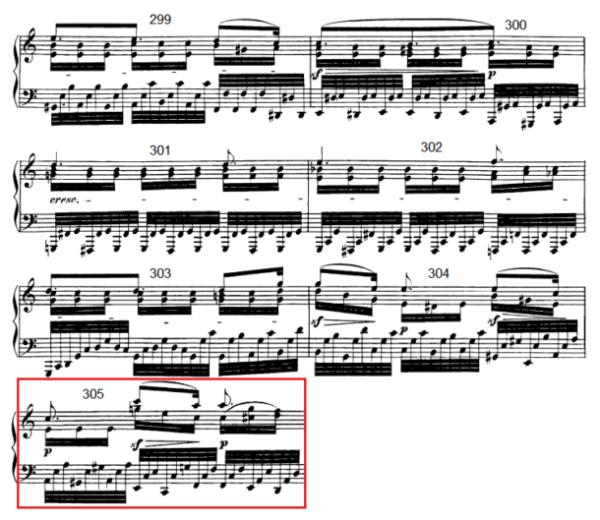 op. 111 – Eine Analyse in 335 Teilen – Takt 305