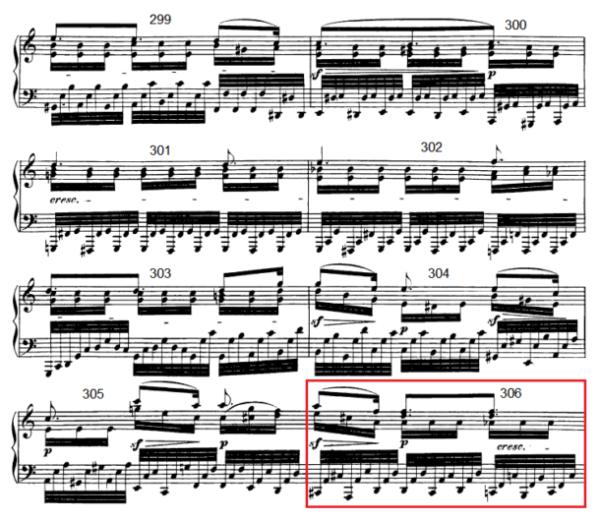 op. 111 – Eine Analyse in 335 Teilen – Takt 306