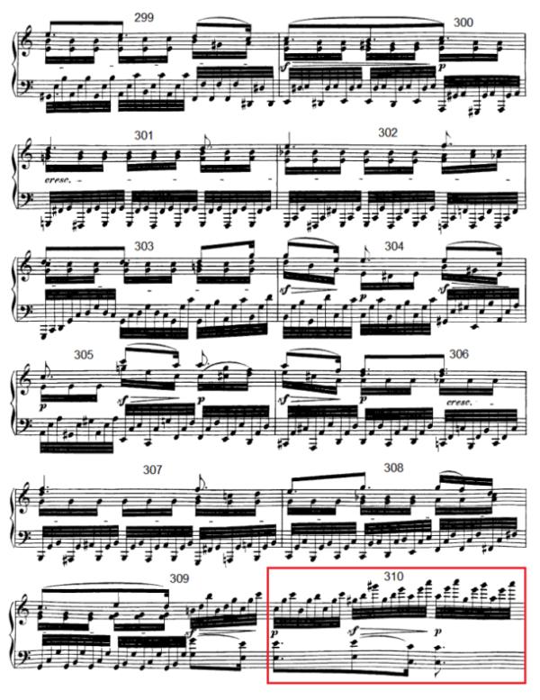op. 111 – Eine Analyse in 335 Teilen – Takt 310