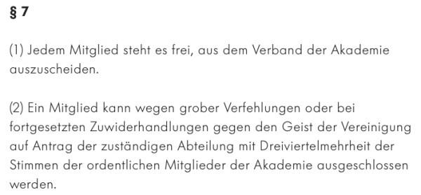 Ich triggere § 7 Abs. 2 der BADSK-Satzung gegen Rechtes, Identitäres, Sexualstrafrechtliches und Migrantenschreck!