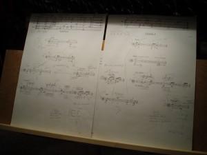 Die Noten von Solistin Antonia Lorenz