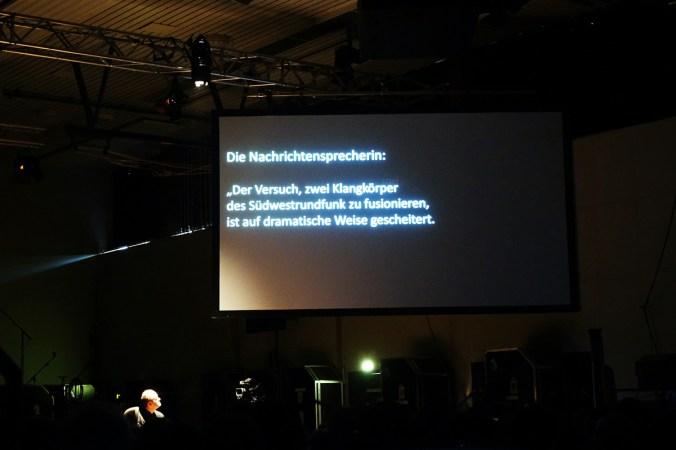 Protest gegen die Orchesterfusion in Donaueschingen am letzten Tag. Foto: Hans Kumpf