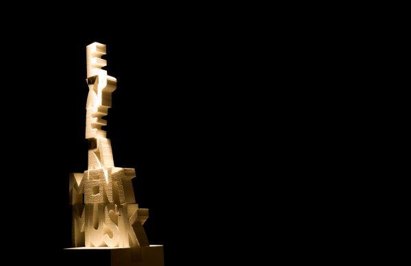 Experiment Musik. Skulptur in Grünstadt. Foto: Hufner