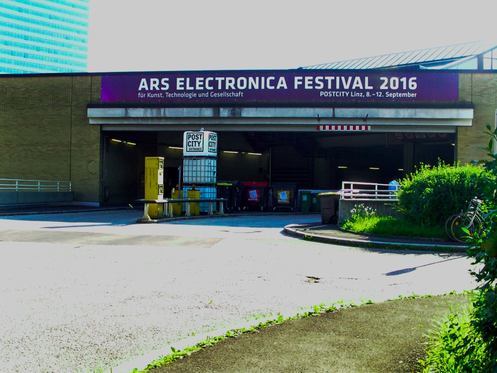 Arrival at PostCity - Ars Electroinca Festival