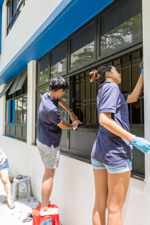 A clean environment is not only pleasing to the eyes but important for the health of the elderly as the team worked hard to cover all possible areas.