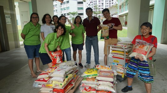 Over 14,000kg of rice was collected!