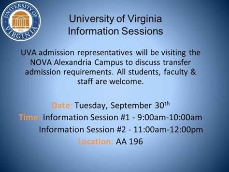 University of Virginia information session