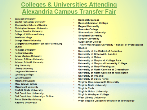 Colleges and Universities attending