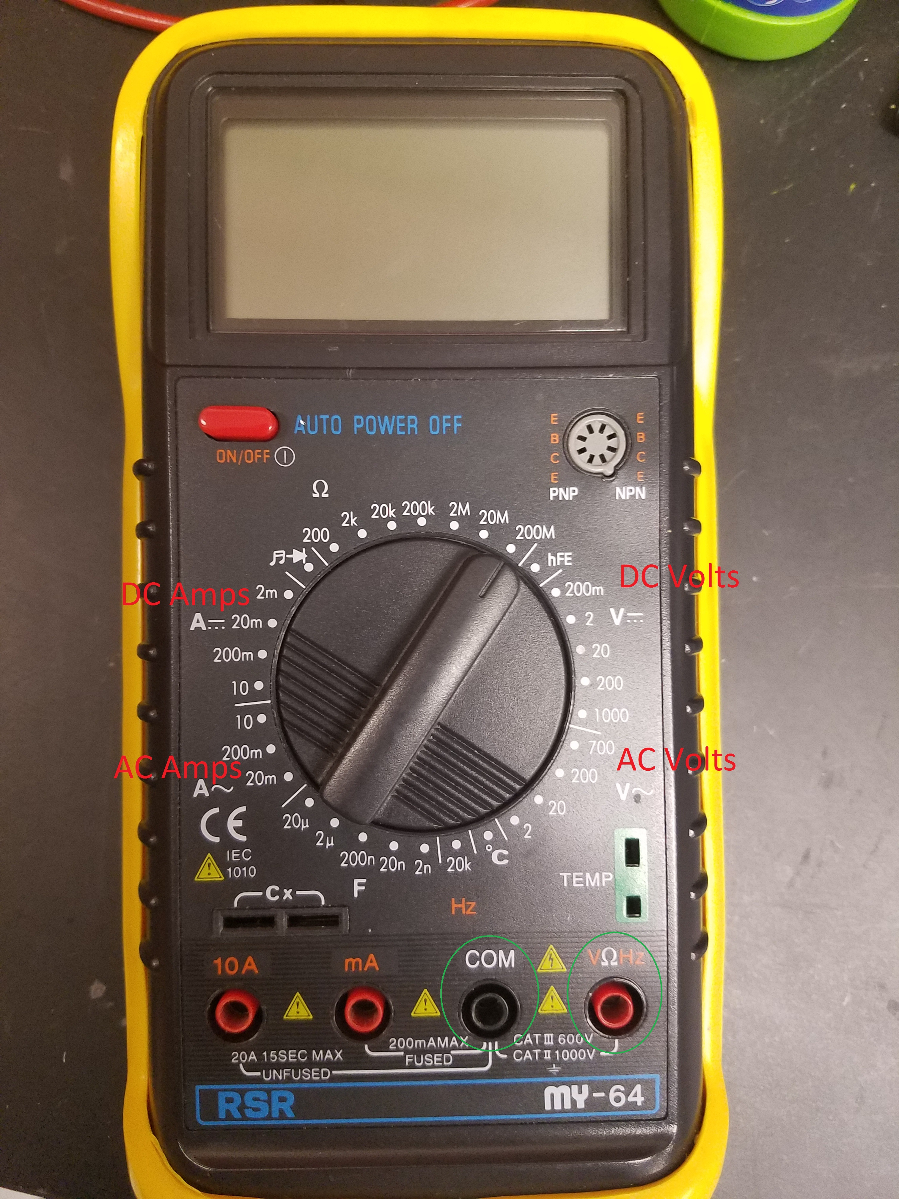 Ohms law nova physics department keep in mind that the location of the proper port and position of the dial will vary from the image below with type of multimeter but the symbols should biocorpaavc Image collections