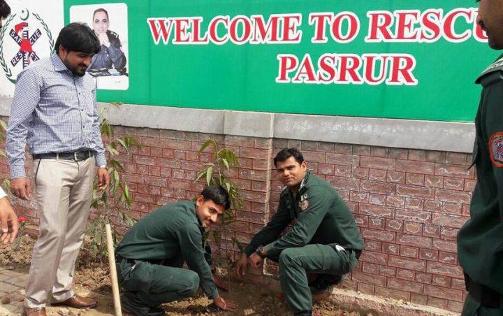 Muhammad planting trees