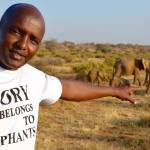 Gilbert with elephants
