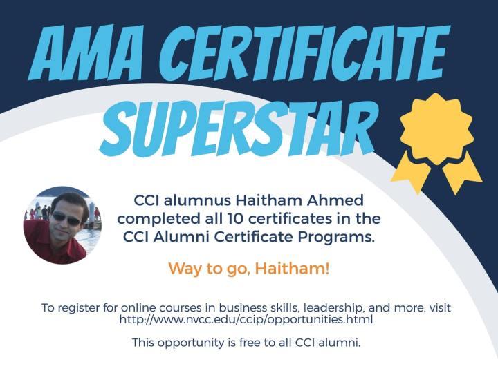AMA Certificate Superstar