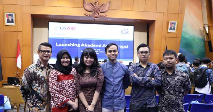 Priskilla at Akademi Antikorupsi launch
