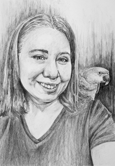 """Deidra and Liberty, Nesting #11, graphite on paper, 11"""" x 21"""", 2018, $600 without frame, $700 with frame"""