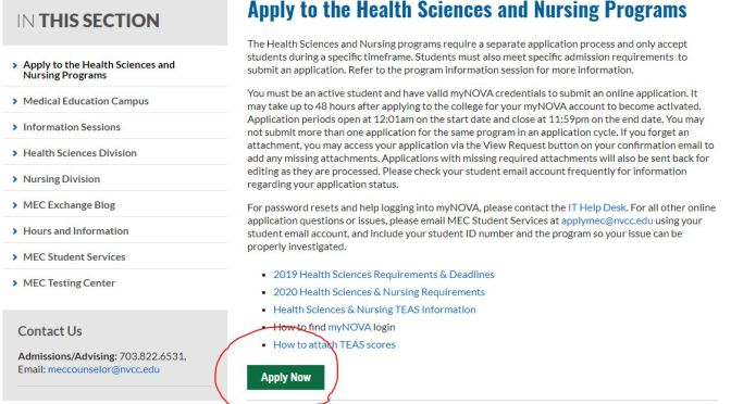 Online Health Science and Nursing application