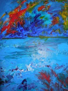"""Fire on Water"" by Rosemary Gallick"