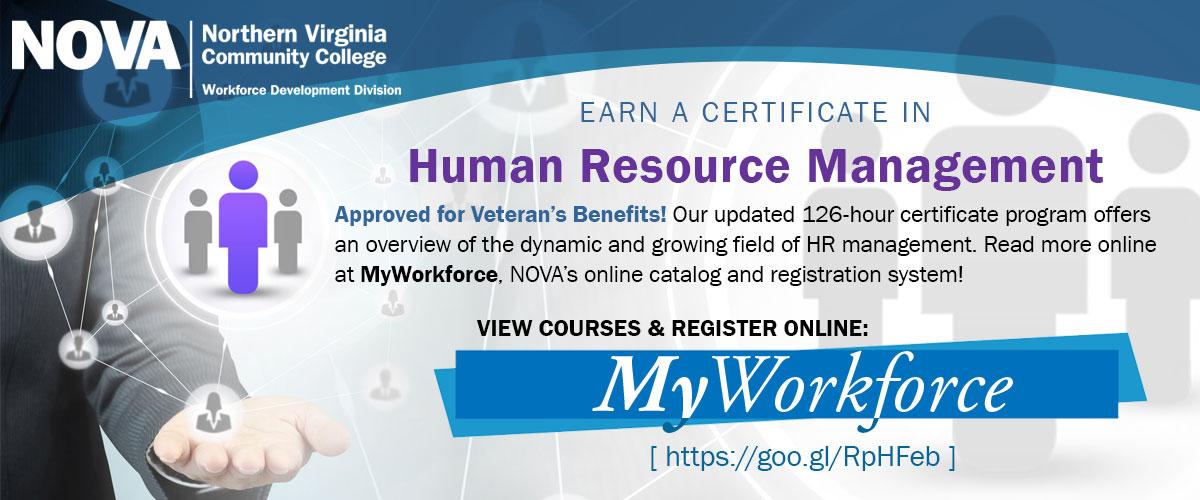 NOVA Workforce Development Division | HR Management Certificate Program