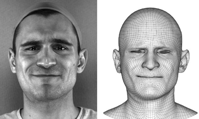 By using AI for computer graphics, researchers automated the task of converting live actor performances (left) to computer game virtual characters (right).
