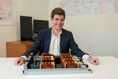 CCDS Executive Director Mark Michalski with NVIDIA DGX-1 with Volta.