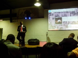 Nigel Chanakira gives entrepreneurship advice at Pitch Nights