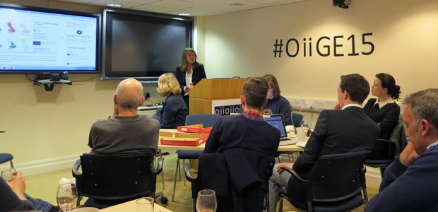 We undertook some live analysis of social media data over the night of the 2015 UK General Election. See more photos from the OII's election night party, or read about the data hack