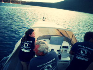 At work with the National Marine Park of Northern Sporades' team