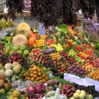 Fruits on a market stand
