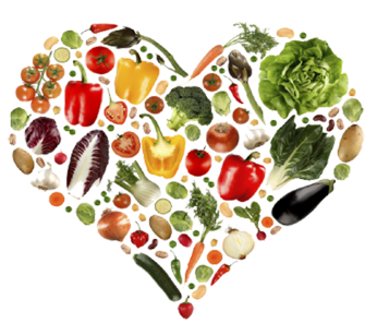 A Healthy Heart of Fruits and Vegetables