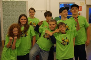 Members of Lincoln County 4-H SNL robotics team