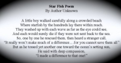 Star Fish Poem