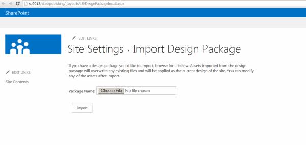 Import design package