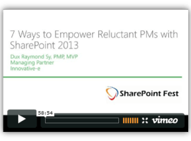 7 Ways to Empower Reluctant Project Managers with SharePoint 2013