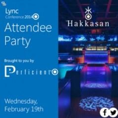 Lync Conf evening event