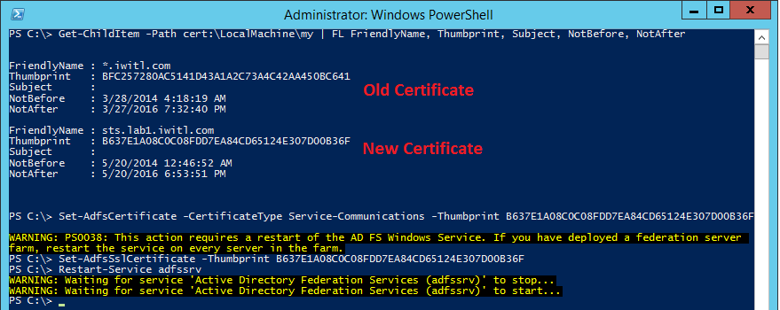 Office 365 – Replacing the SSL Certificate in AD FS 3 0 - Perficient Blogs