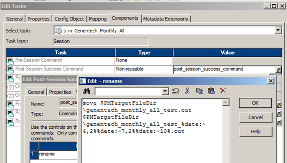 Informatica: Set a Target Flat File Name with Timestamp