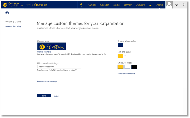 Office 365 & SharePoint Online - Customize the Suite Bar