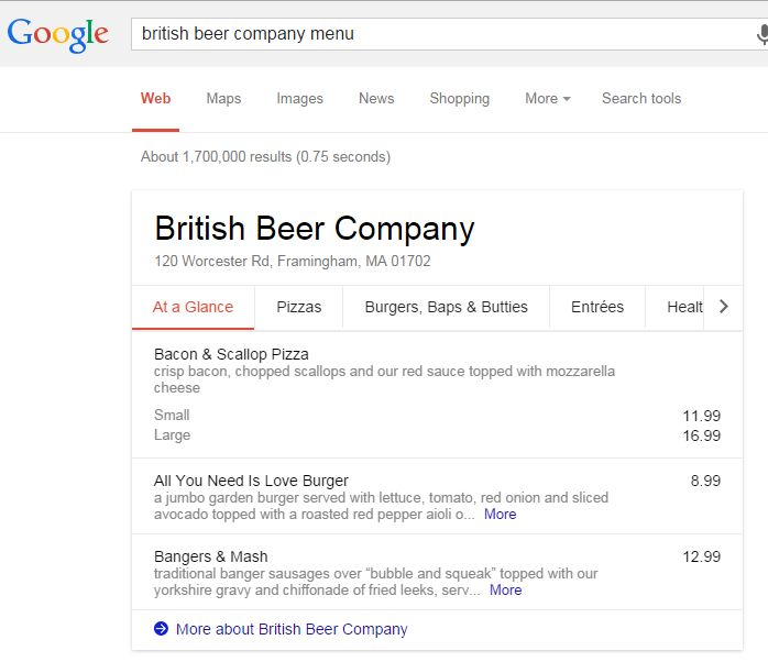 british-beer-company-menu
