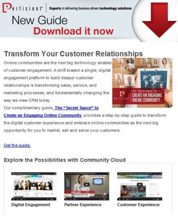 Pardot email campaign example for Community Cloud