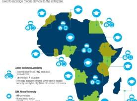 IBM's Africa Skills Initiative graphic