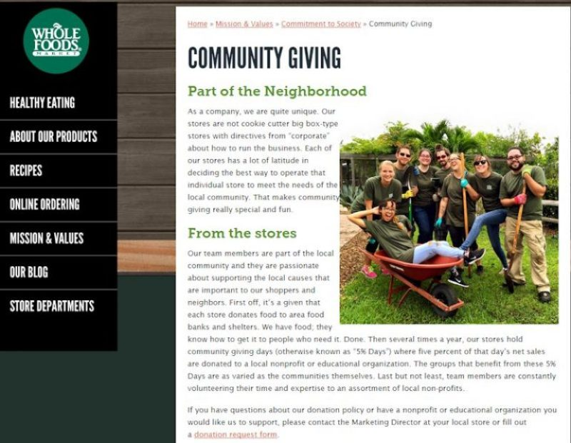 Whole Foods Community Giving
