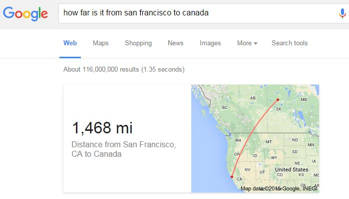 Rich Answer How Far is it From San Francisco to Canada