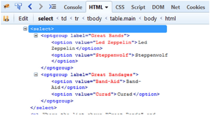 Identifying optgroup values in Dropdown - For Selenium automation