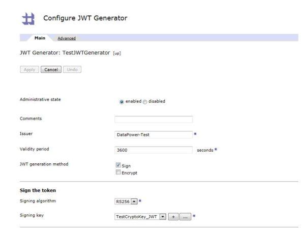 configure jwt generator