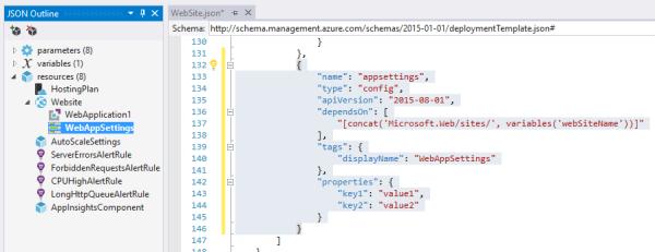 AzureARMAppSettingsTemplateSection