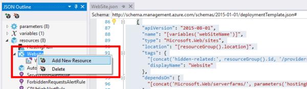 azure arm template define web app application settings perficient