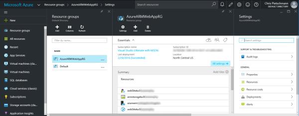 Current Azure Portal