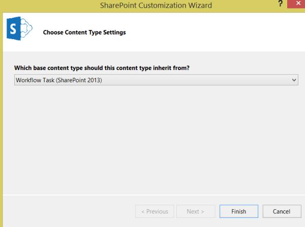 Content Type- Choose Workflow Task